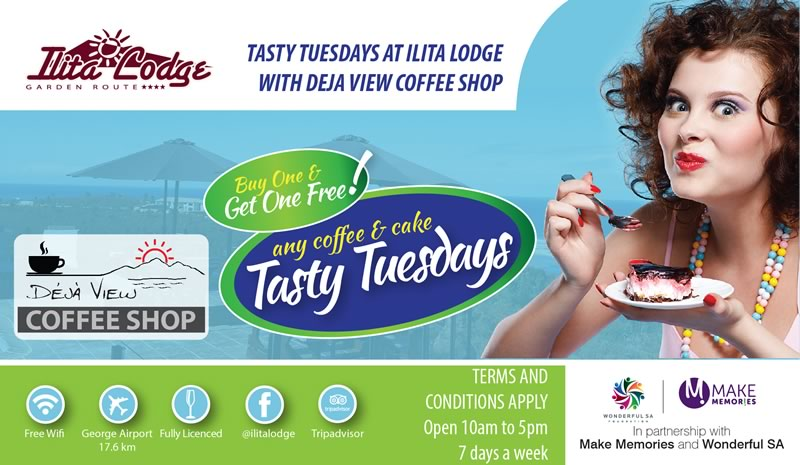 Tasty Tuesdays at Ilita Lodge with Deja View Coffee Shop